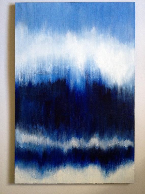 BlueIkatPaintingsby-KEGilmore