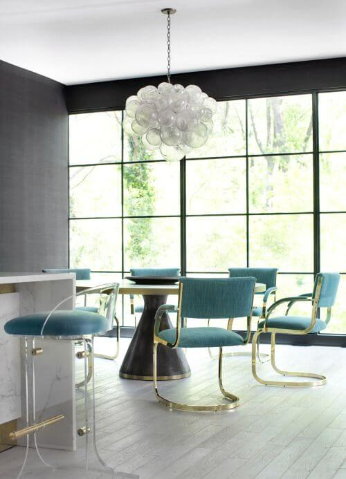 Modern Monday: Turquoise Dining