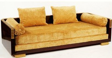 Yellow Art Deco Sofa