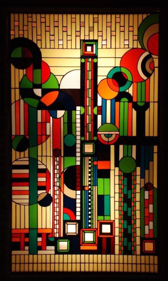 Fine Art Feature: Frank Lloyd Wright Art Deco Windows