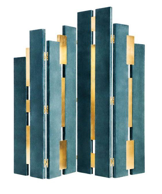 Art Deco Teal Brass Sceen