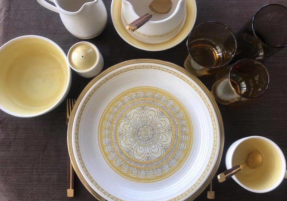 Tabletop Tuesday: Vintage Sunshine